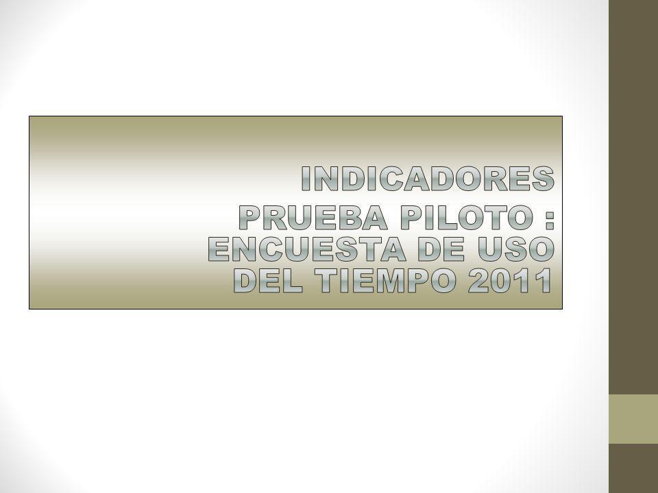 INDICADORES PRUEBA PILOTO : ENCUESTA DE USO DEL TIEMPO 2011