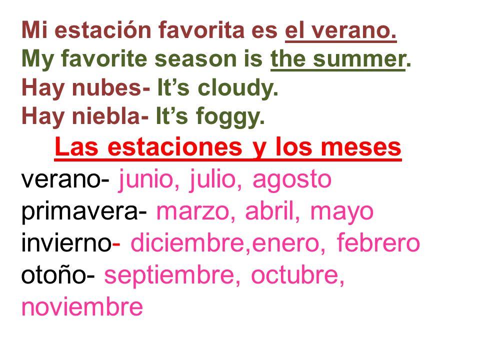 Las estaciones y los meses