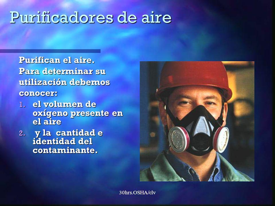 Purificadores de aire Purifican el aire. Para determinar su