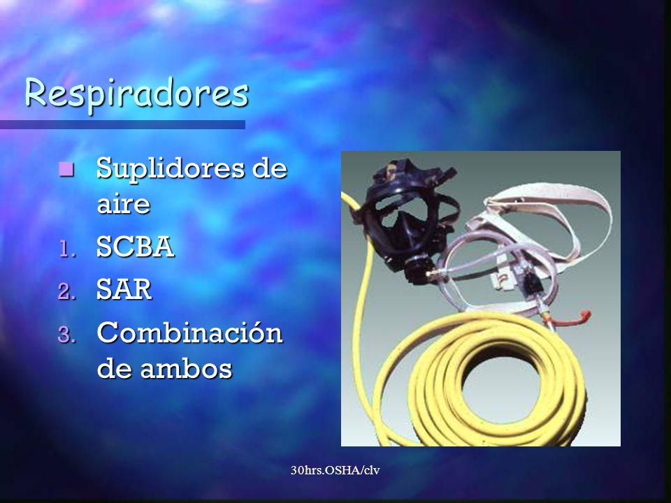 Respiradores Suplidores de aire SCBA SAR Combinación de ambos