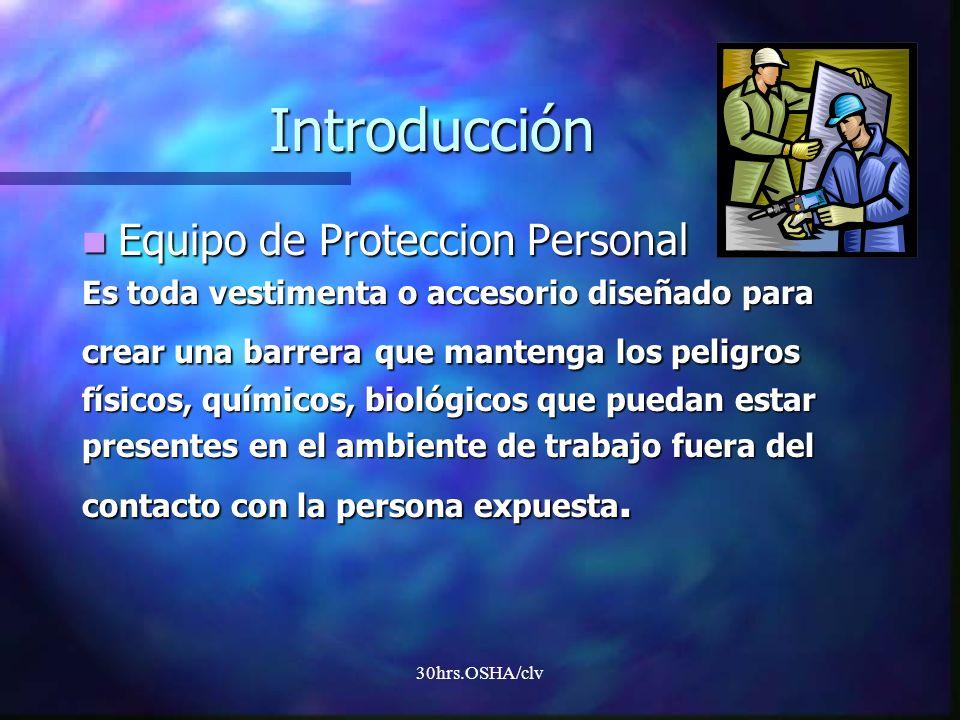 Introducción Equipo de Proteccion Personal