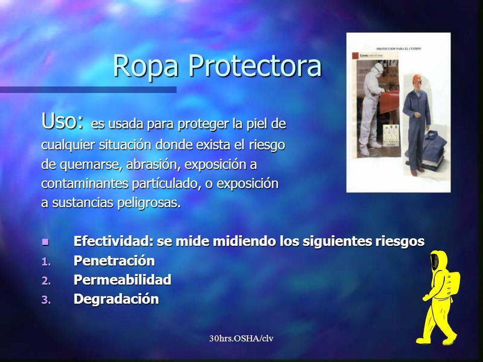 Ropa Protectora Uso: es usada para proteger la piel de