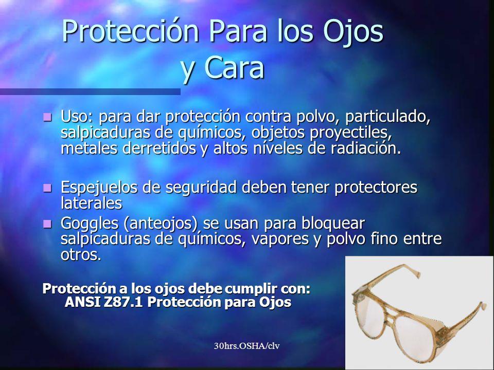 Protección Para los Ojos y Cara