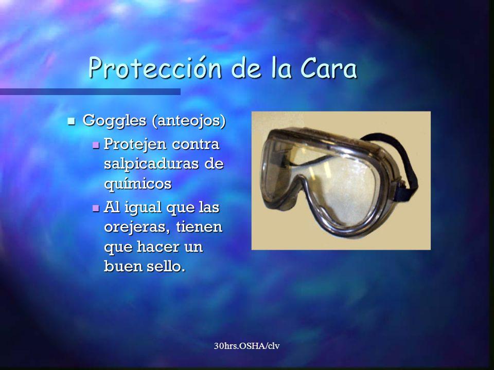 Protección de la Cara Goggles (anteojos)