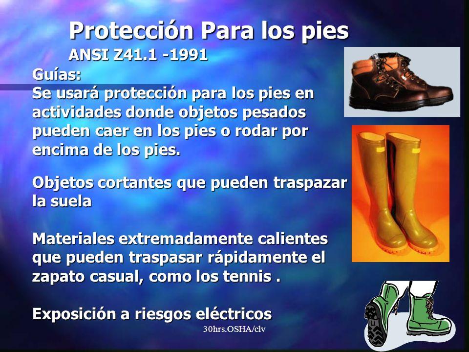 Protección Para los pies ANSI Z41.1 -1991