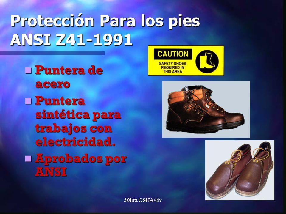 Protección Para los pies ANSI Z41-1991