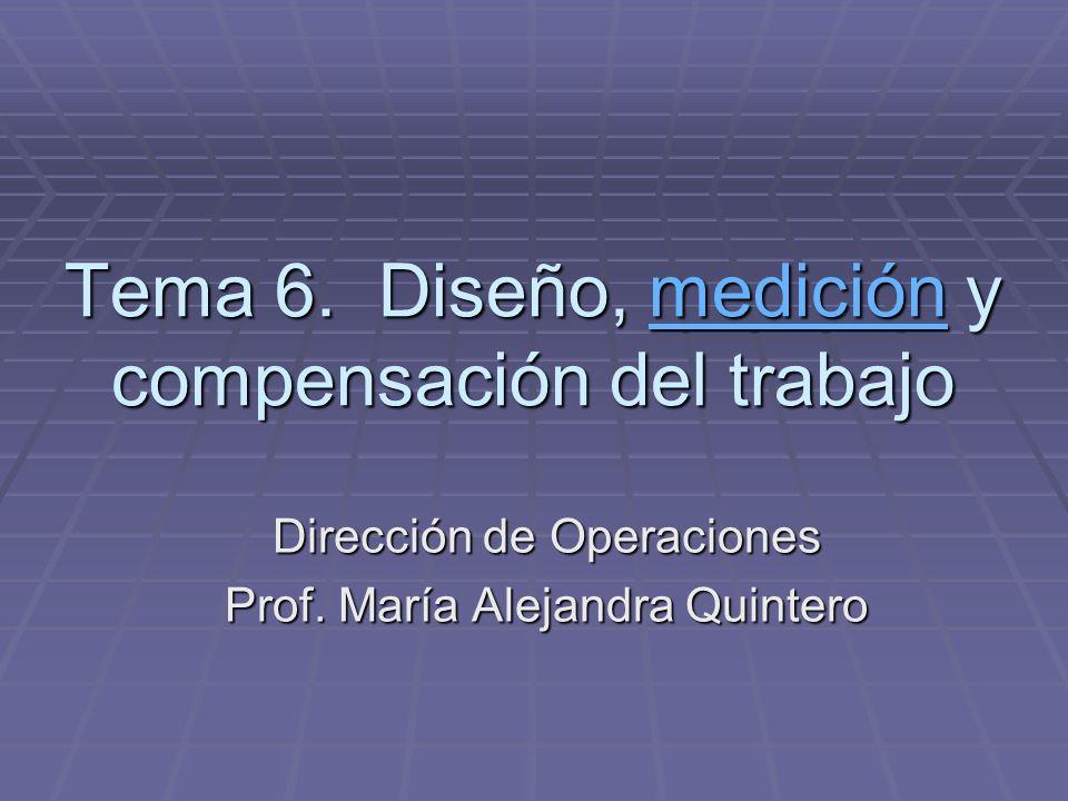 Tema 6. Diseño, medición y compensación del trabajo