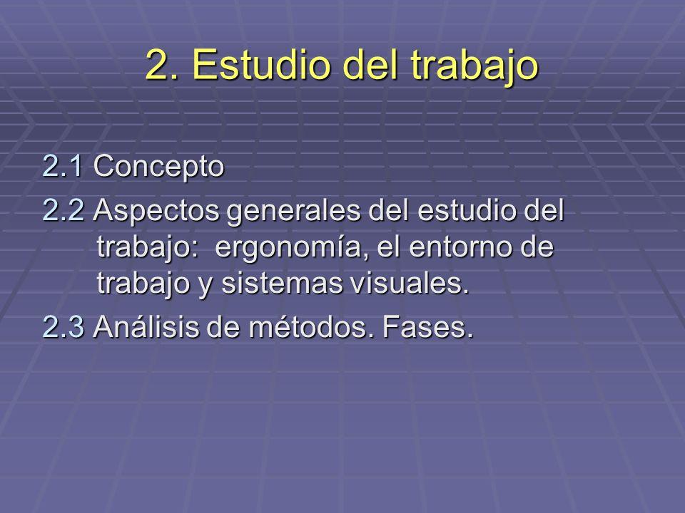 2. Estudio del trabajo 2.1 Concepto
