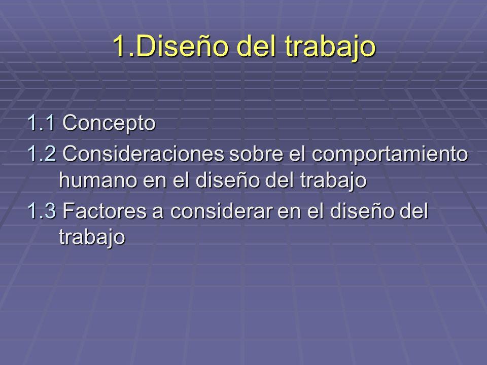 1.Diseño del trabajo 1.1 Concepto