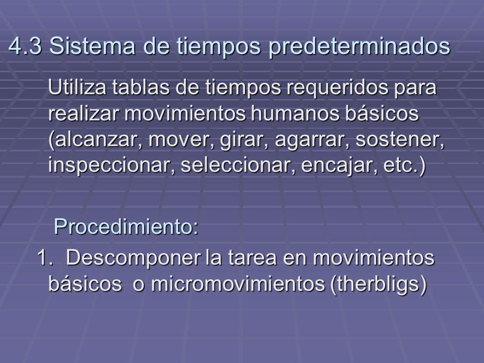 4.3 Sistema de tiempos predeterminados