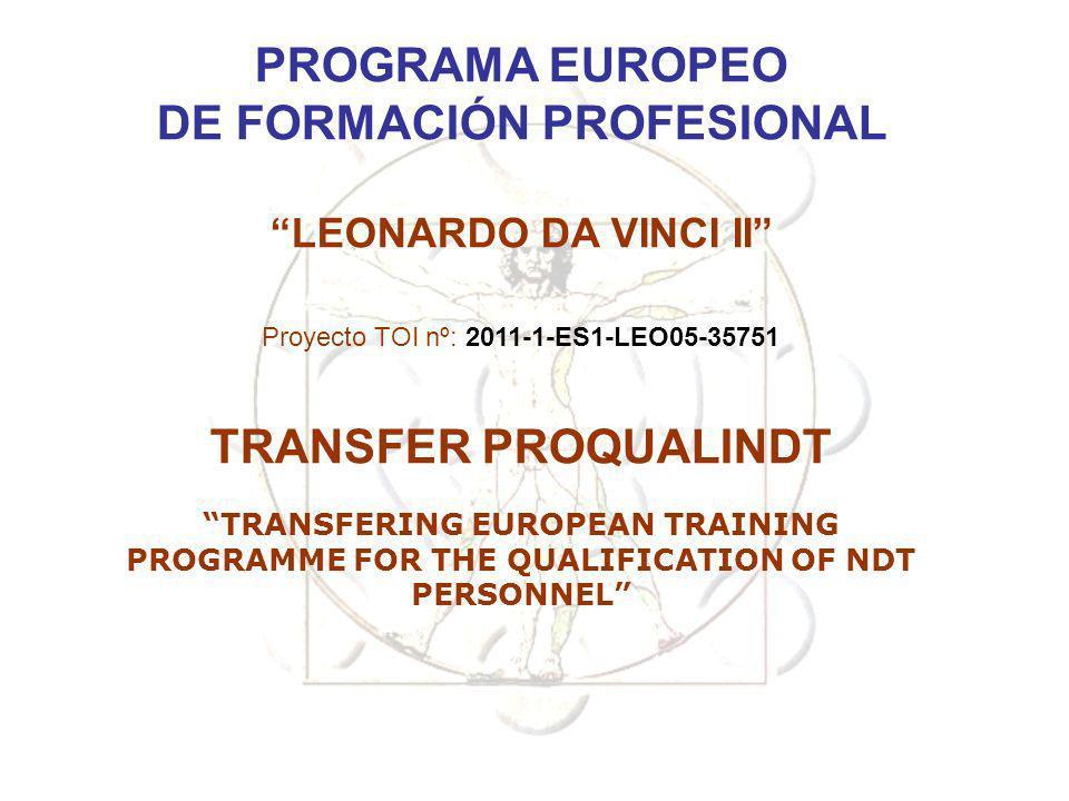 DE FORMACIÓN PROFESIONAL TRANSFERING EUROPEAN TRAINING