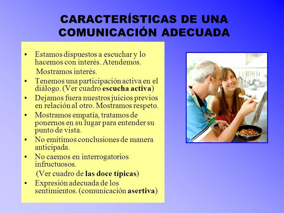 CARACTERÍSTICAS DE UNA COMUNICACIÓN ADECUADA