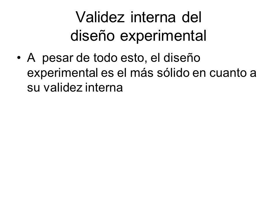 Validez interna del diseño experimental