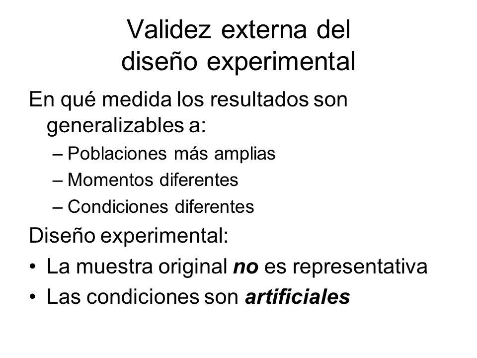 Validez externa del diseño experimental