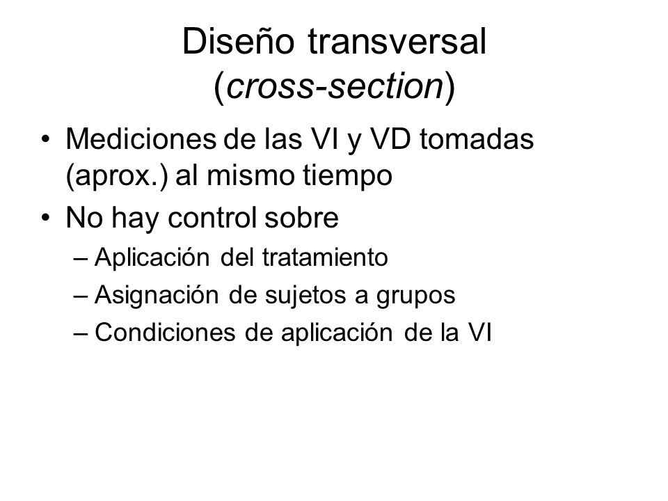 Diseño transversal (cross-section)
