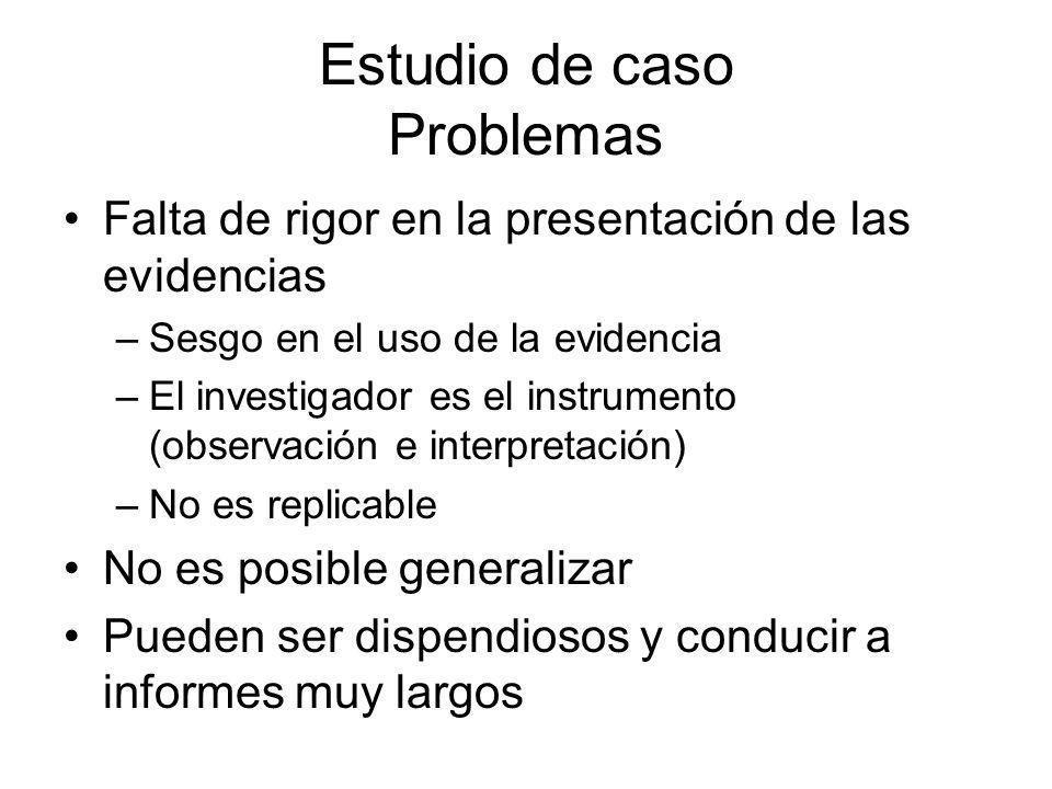 Estudio de caso Problemas