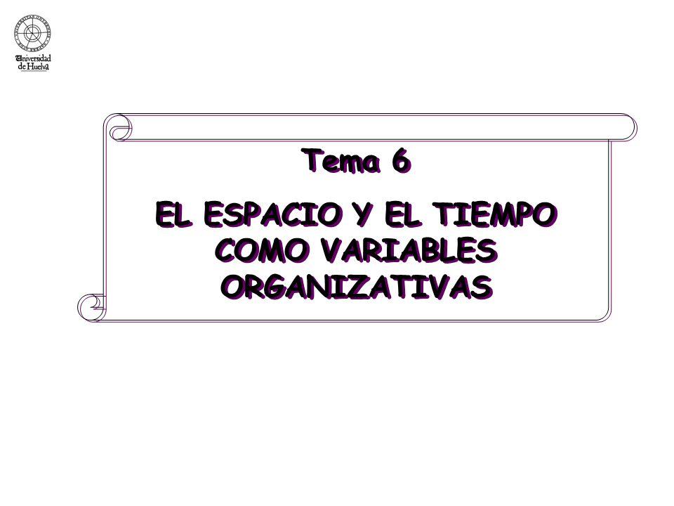 EL ESPACIO Y EL TIEMPO COMO VARIABLES ORGANIZATIVAS