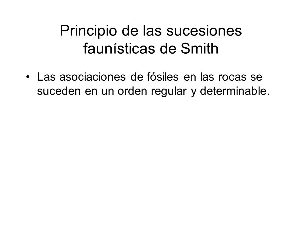 Principio de las sucesiones faunísticas de Smith