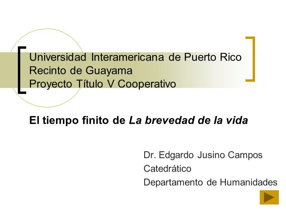 Dr. Edgardo Jusino Campos Catedrático Departamento de Humanidades