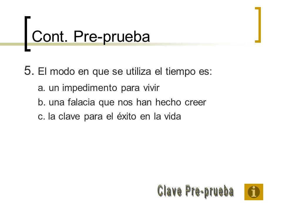 Cont. Pre-prueba Clave Pre-prueba