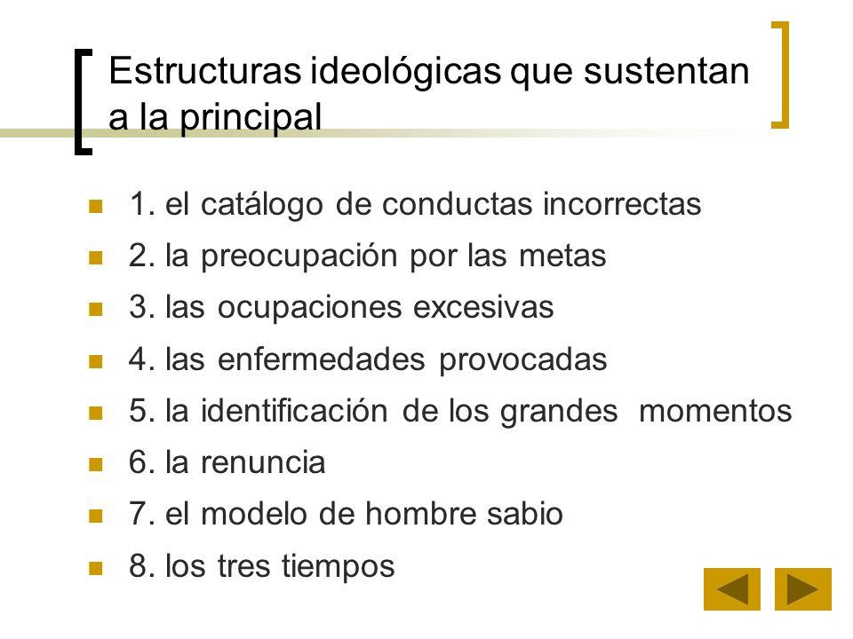 Estructuras ideológicas que sustentan a la principal