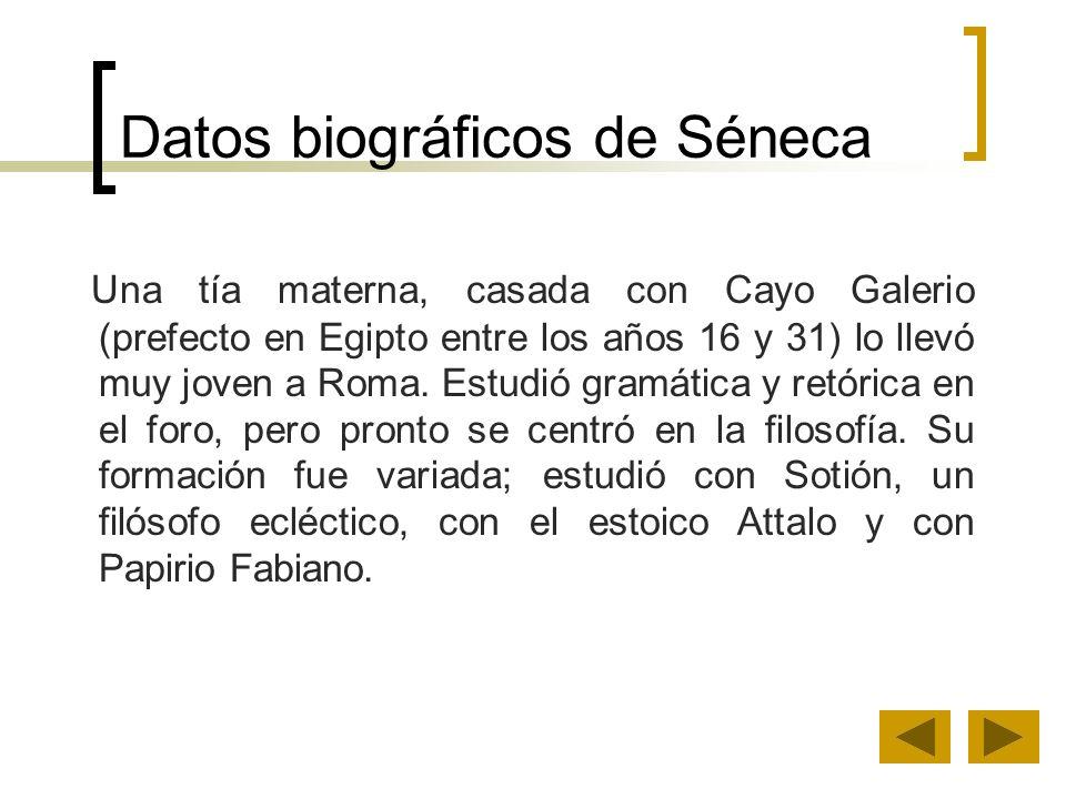 Datos biográficos de Séneca