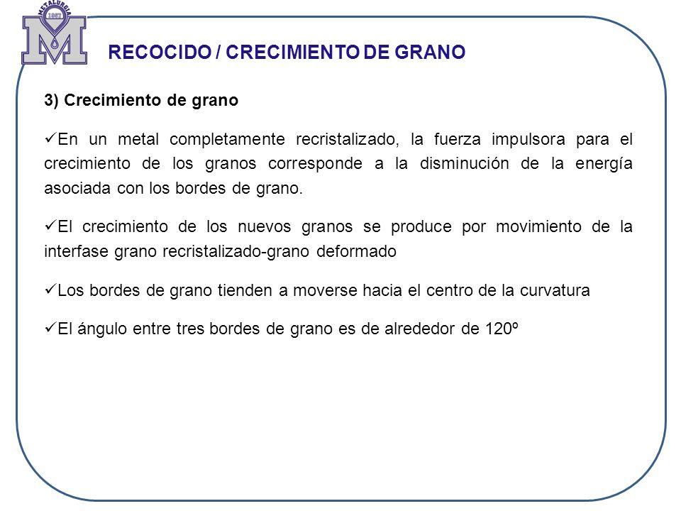 RECOCIDO / CRECIMIENTO DE GRANO