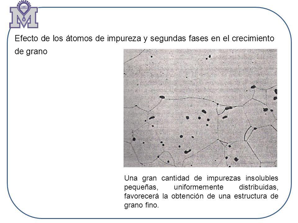 Efecto de los átomos de impureza y segundas fases en el crecimiento de grano