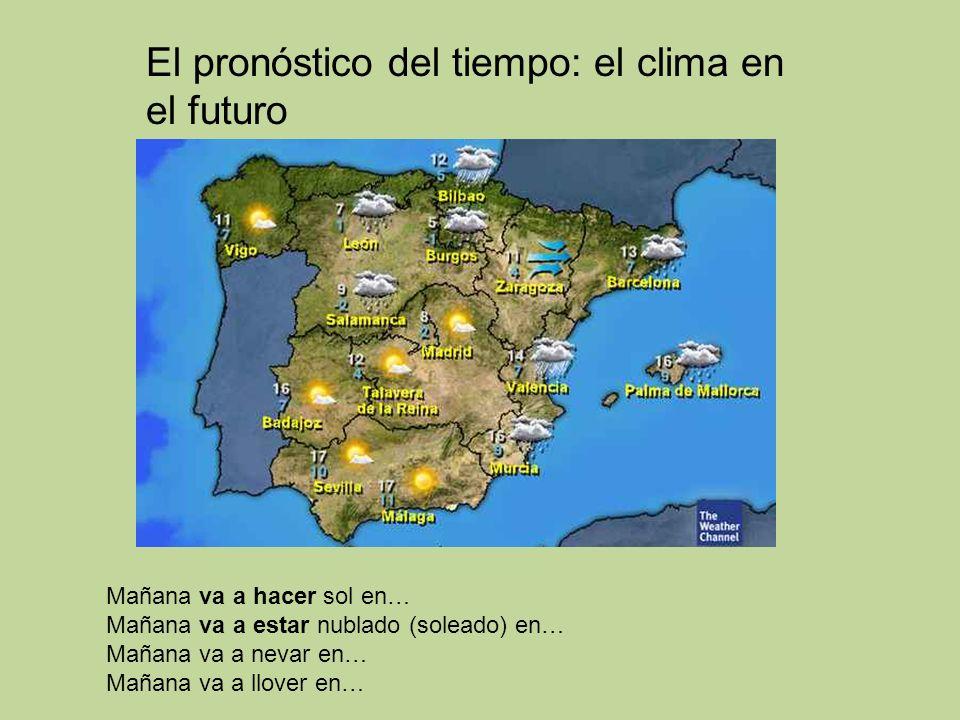 El pronóstico del tiempo: el clima en el futuro