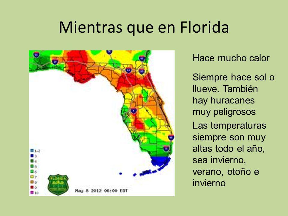 Mientras que en Florida