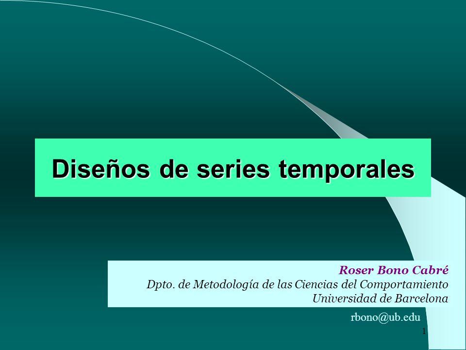 Diseños de series temporales