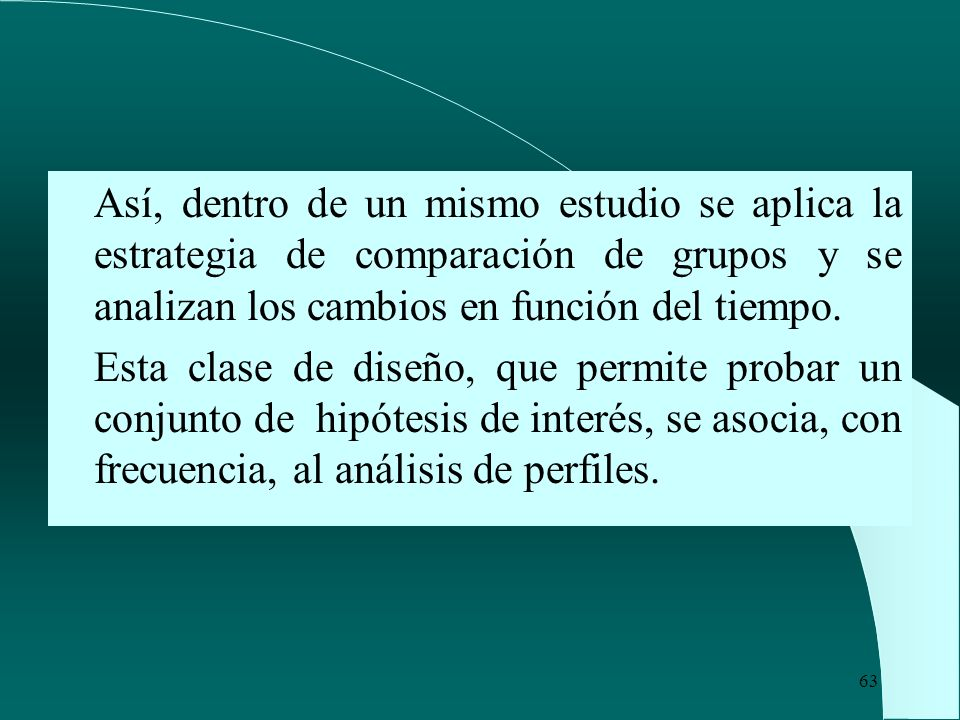 Así, dentro de un mismo estudio se aplica la estrategia de comparación de grupos y se analizan los cambios en función del tiempo.