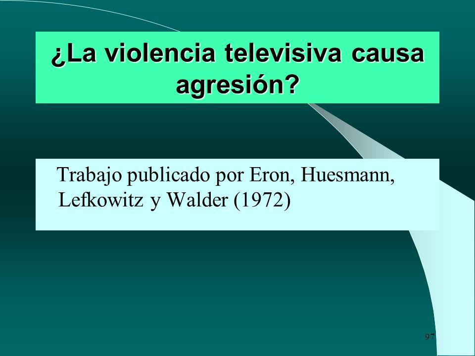 ¿La violencia televisiva causa agresión