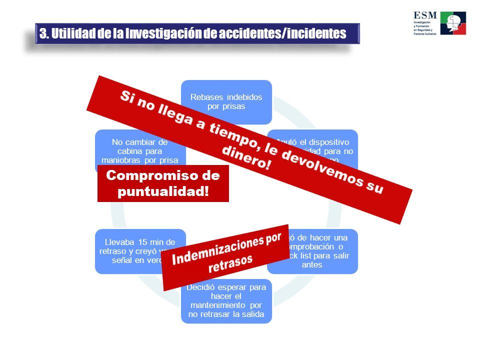 3. Utilidad de la Investigación de accidentes/incidentes