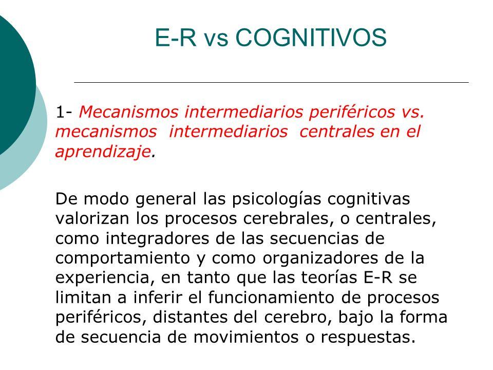 E-R vs COGNITIVOS