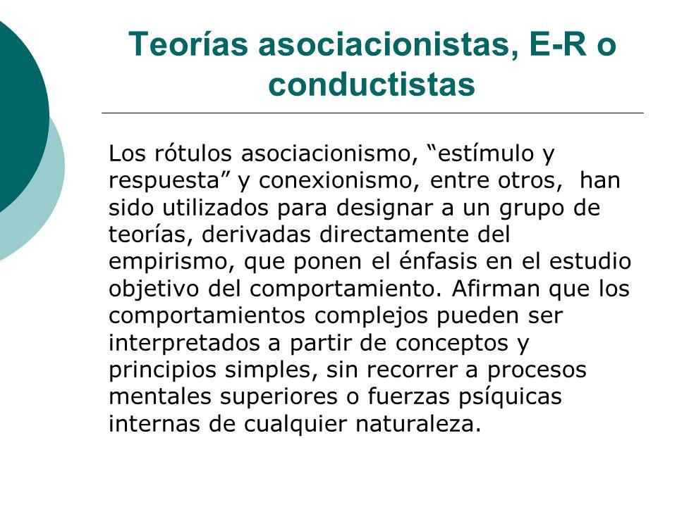 Teorías asociacionistas, E-R o conductistas