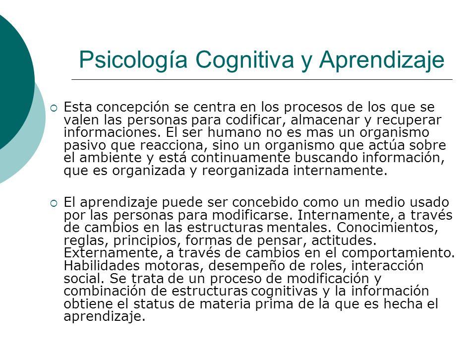 Psicología Cognitiva y Aprendizaje