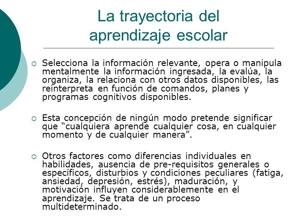 La trayectoria del aprendizaje escolar