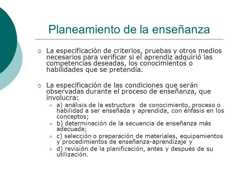 Planeamiento de la enseñanza