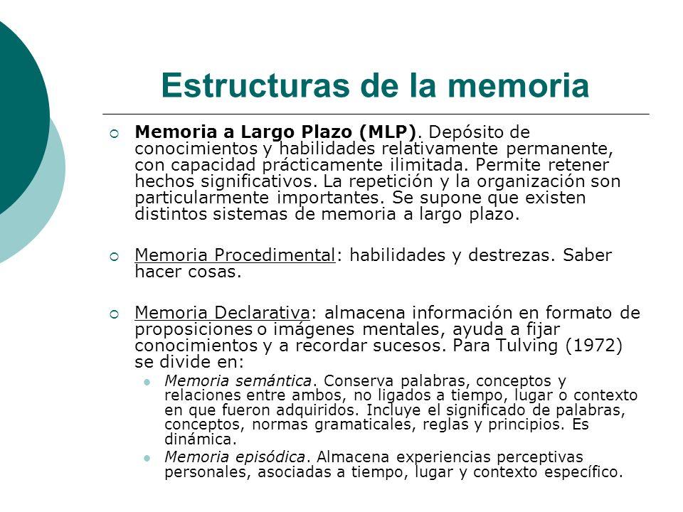 Estructuras de la memoria