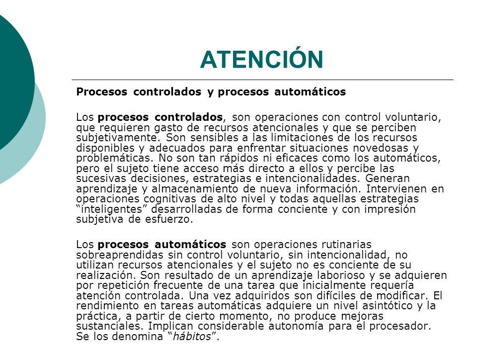 ATENCIÓN Procesos controlados y procesos automáticos