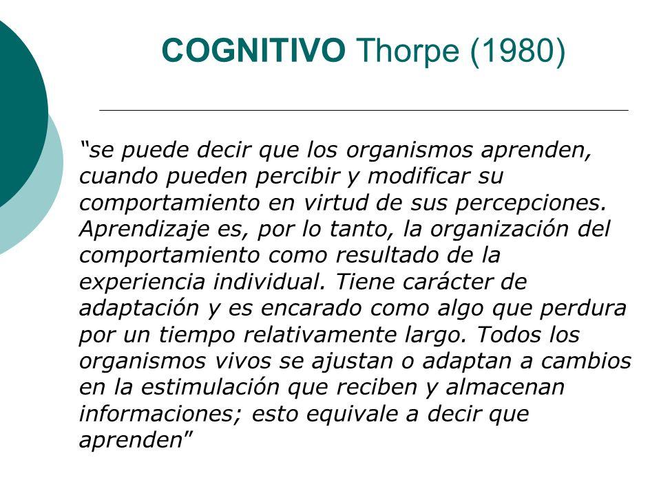 COGNITIVO Thorpe (1980)