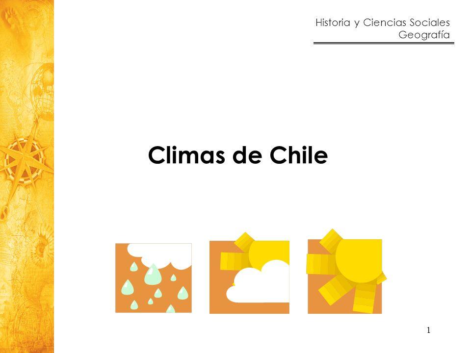 Climas de Chile Estimado Profesor y Estimada Profesora:
