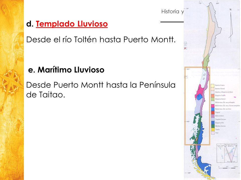 Desde el río Toltén hasta Puerto Montt.