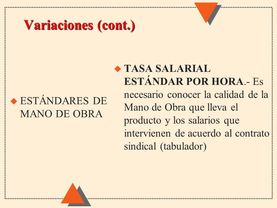 Variaciones (cont.)