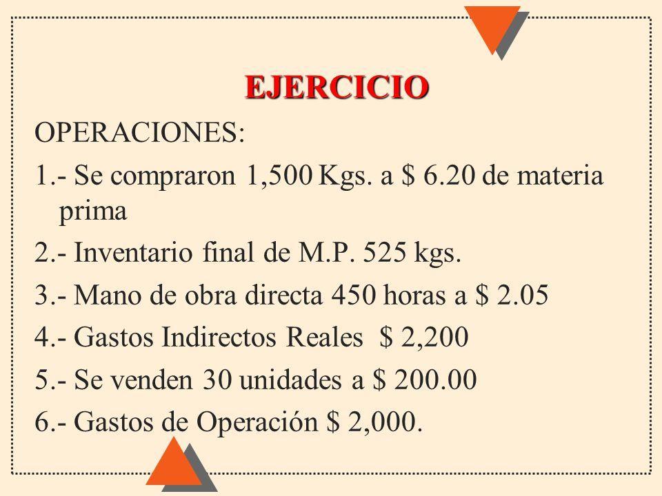 EJERCICIO OPERACIONES: