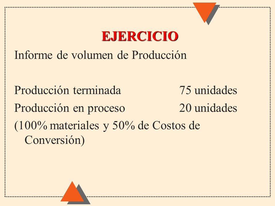 EJERCICIO Informe de volumen de Producción