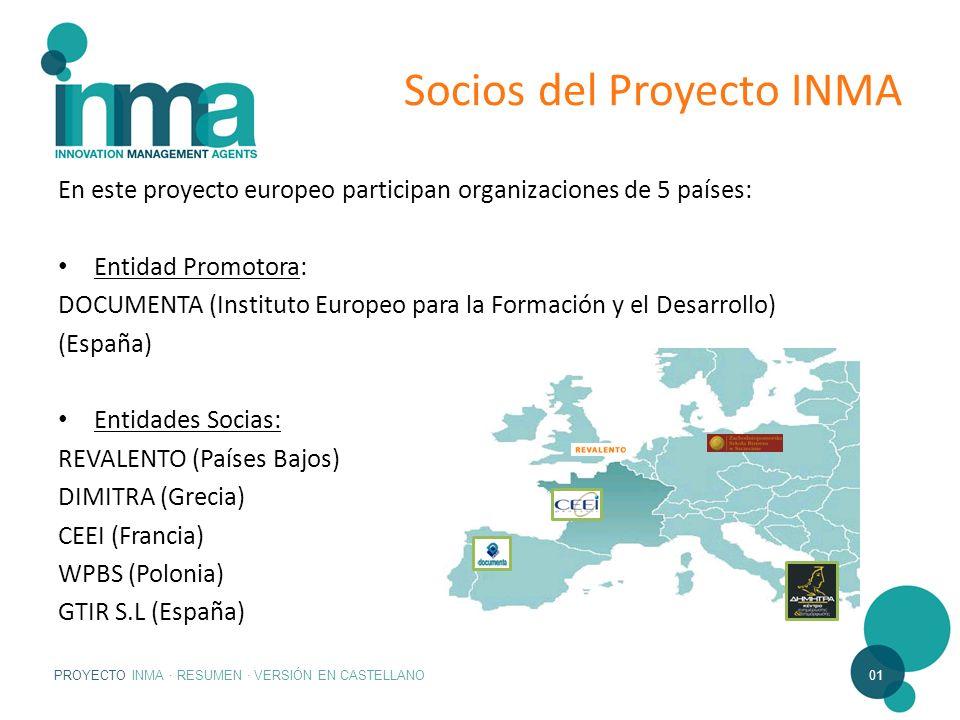 Socios del Proyecto INMA