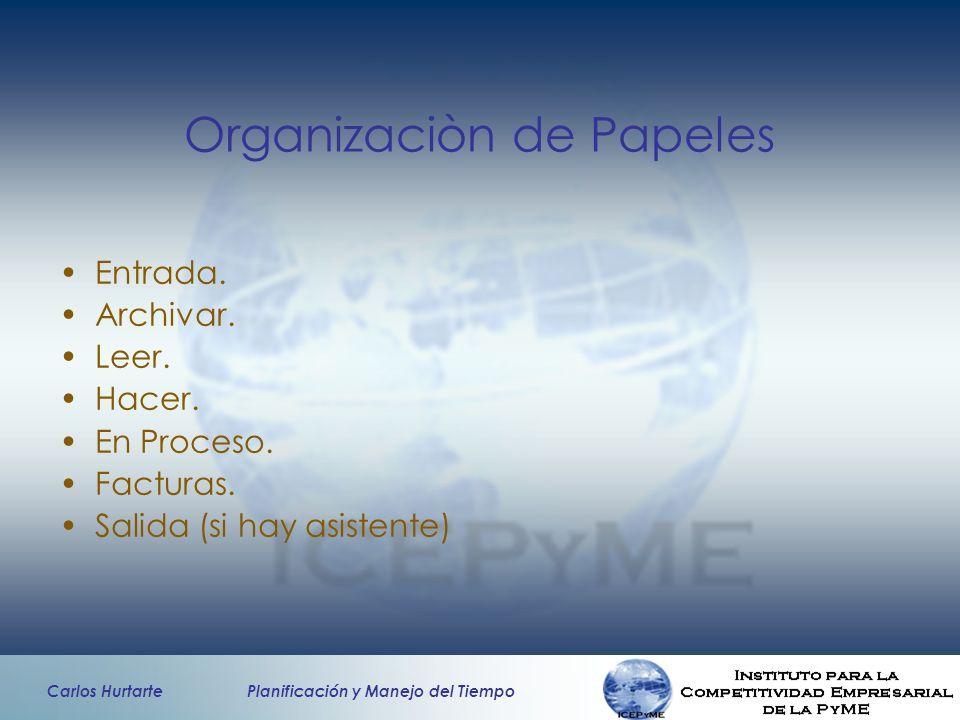 Organizaciòn de Papeles
