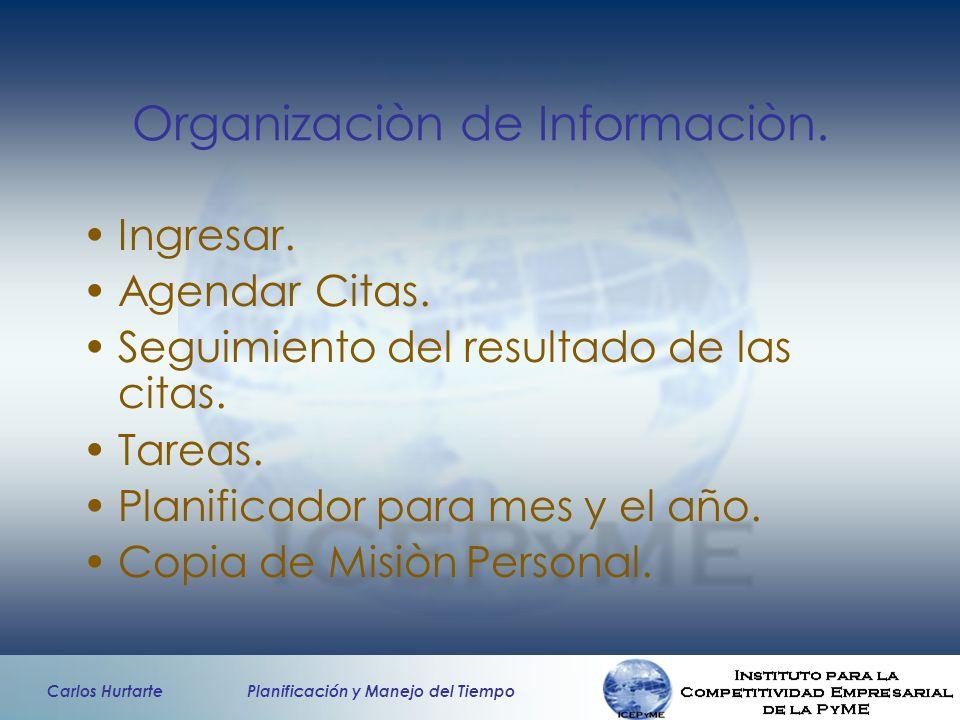Organizaciòn de Informaciòn.